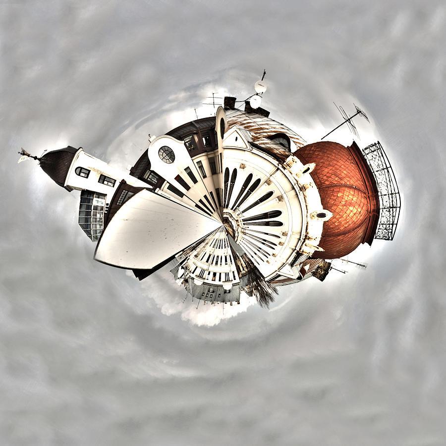Round Photograph - Round Around by Illusorium Illustration