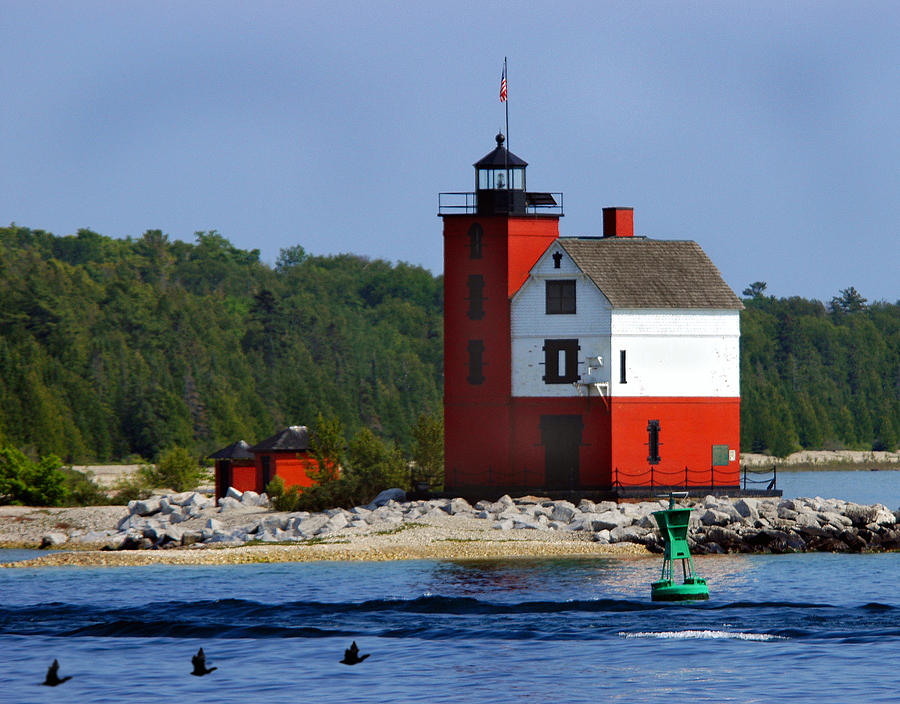 Round Island Lighthouse by Pristine Images