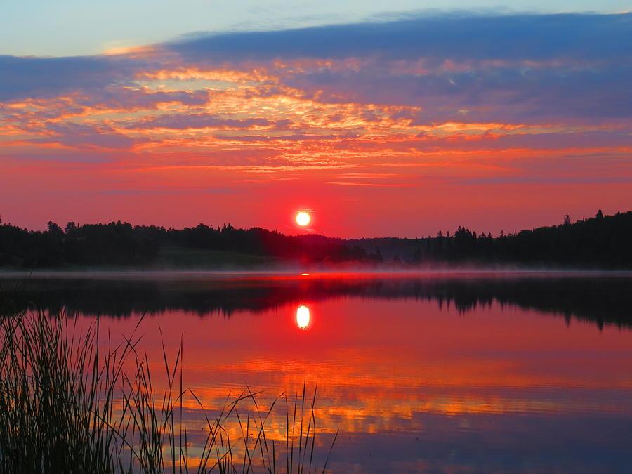 Dawn Photograph - Round Lake Dawn by Alex  Call