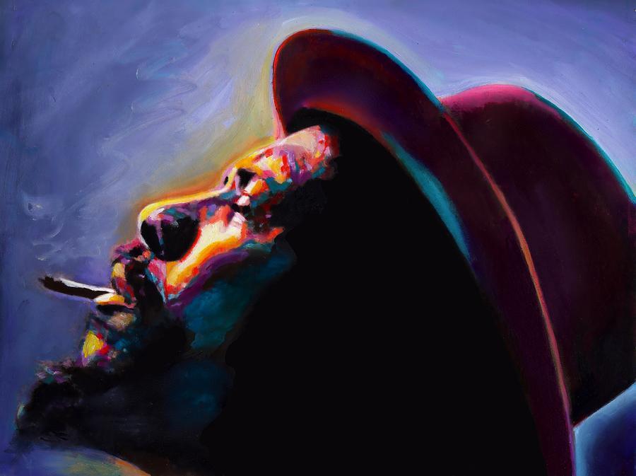 Jazz Art Artwork Painting - Round Midnight Thelonious Monk by Vel Verrept