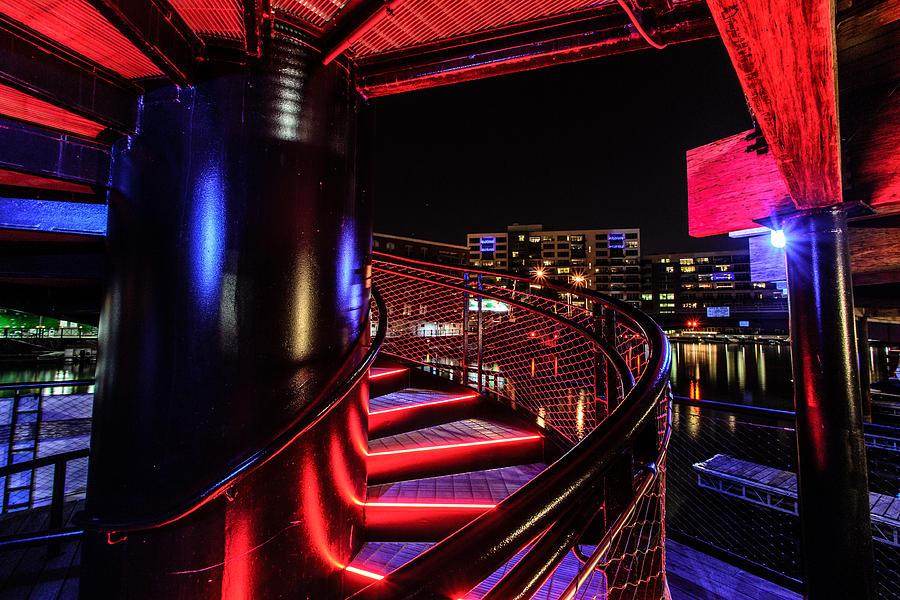 Downtown Photograph - Round Staircase by Randy Scherkenbach