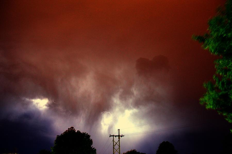 Nebraska Photograph - Rounds 2 3 Late Night Nebraska Storms by NebraskaSC