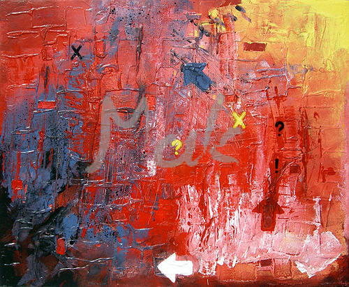 Abstract Mixed Media - Rouquin by Maria Klimek