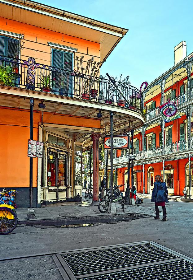 French Quarter Photograph - Rouses Market Painted by Steve Harrington