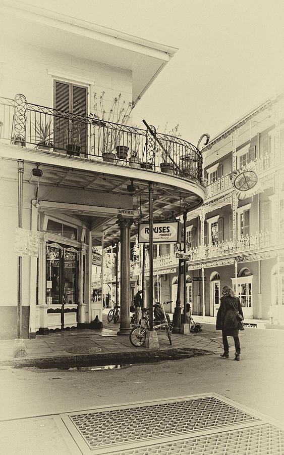 French Quarter Photograph - Rouses Market Sepia by Steve Harrington