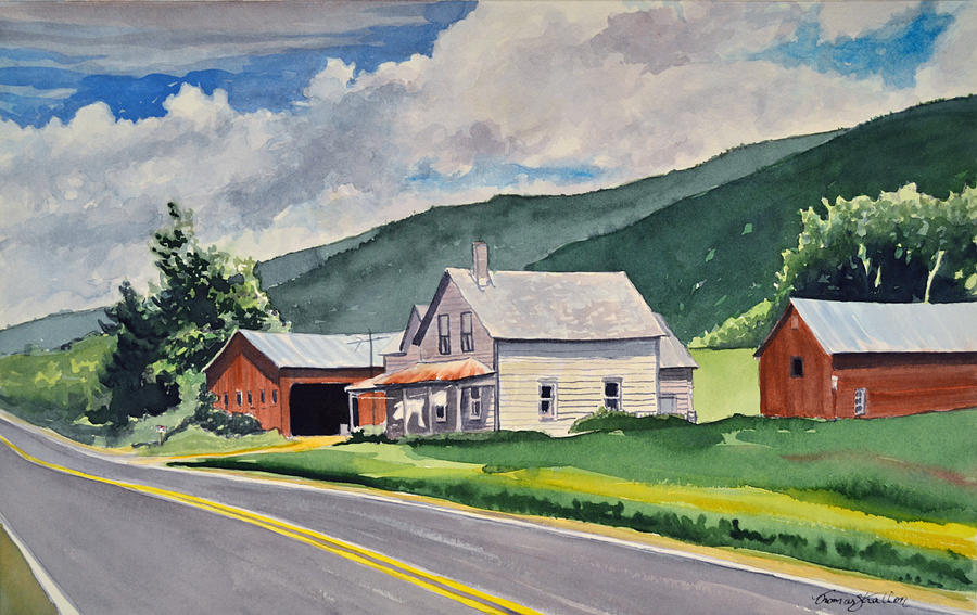 Country Life Painting - Route 101 by Thomas Stratton
