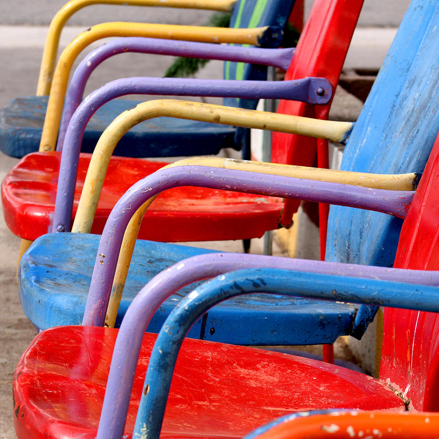 Route 66 Photograph - Route 66 Chairs by Art Block Collections