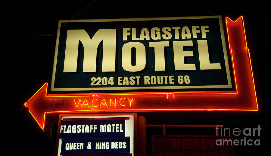 Classic Car Photograph - Route 66 Flagstaff Motel by Bob Christopher