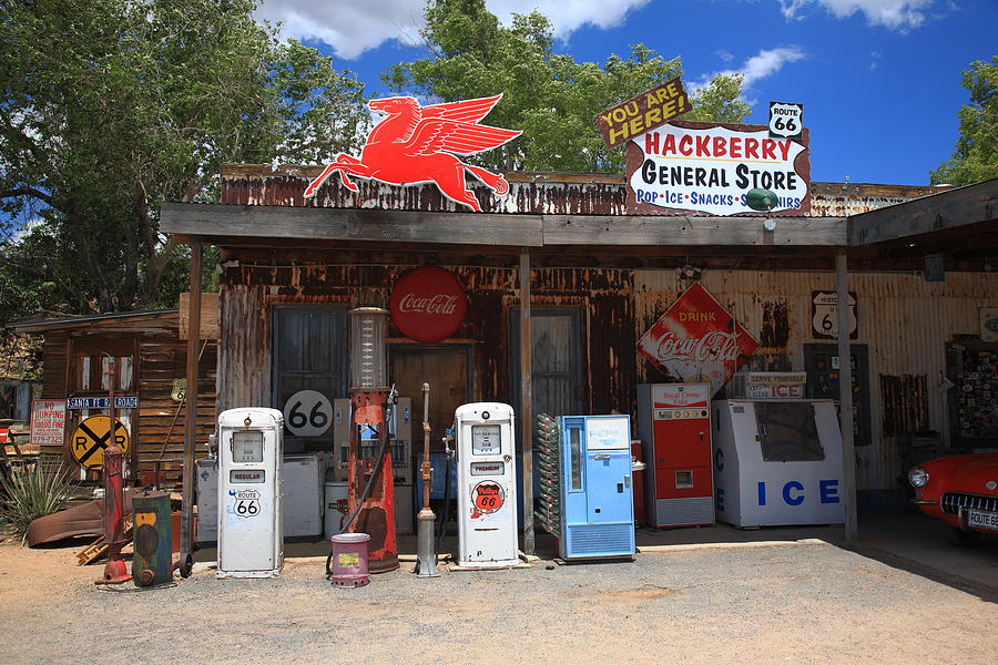 Old Rt 66 >> Route 66 - Hackberry General Store Photograph by Frank Romeo