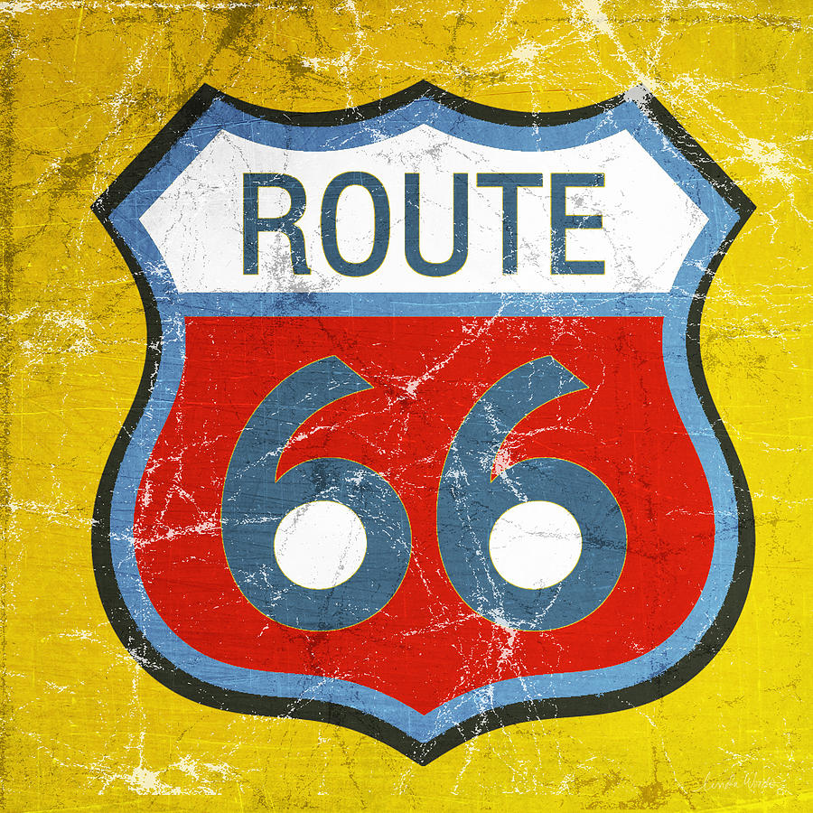 Route 66 Painting - Route 66 by Linda Woods
