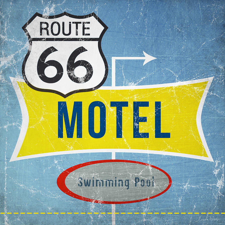 Route 66 Motel Painting