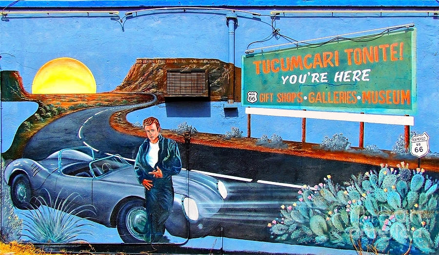 Route 66 mural in tucumcari new mexico photograph by kerry for Route 66 mural