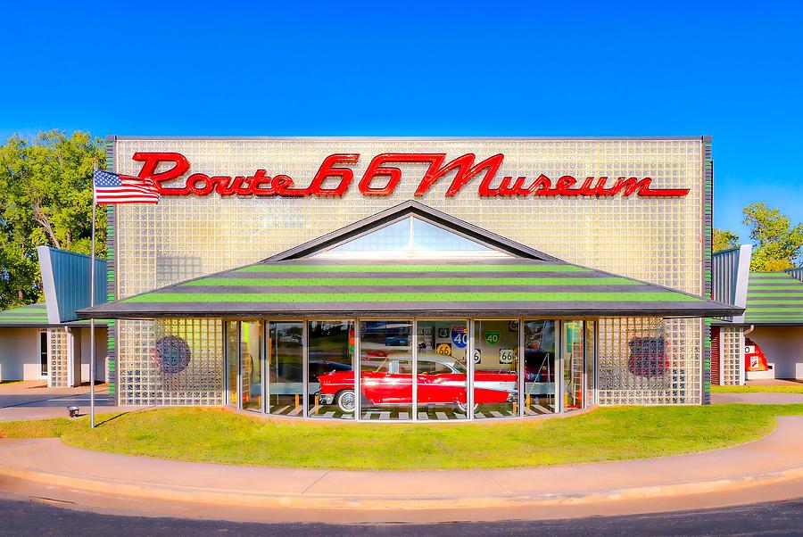 Route 66 Museum Photograph by Lou Novick