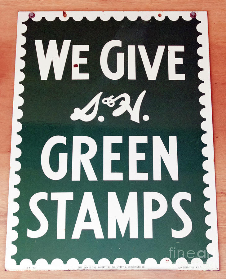 Sign Photograph - Route 66 Odell Il Gas Station Green Stamps Signage by Thomas Woolworth