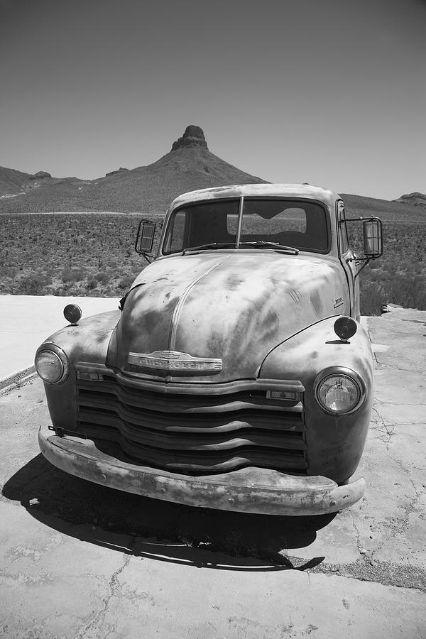 66 Photograph - Route 66 - Old Chevy Pickup by Frank Romeo