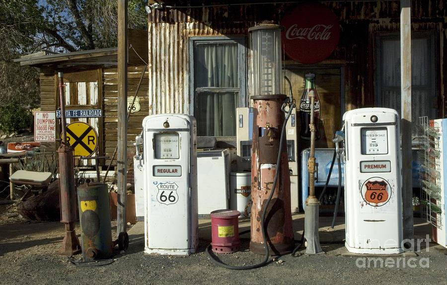 Route 66 Photograph - Route 66 Pumps by Bob Christopher