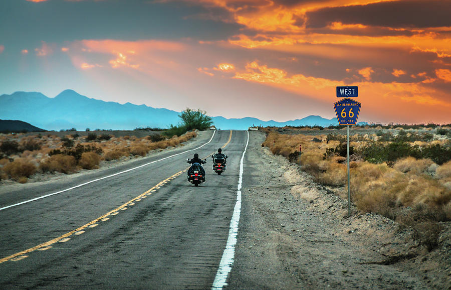 Route 66 Riders Photograph by Sky Noir Photography By Bill Dickinson