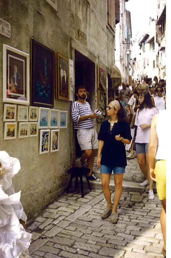 Rovinj - Grisia 1995. Painting by Saso  Petrosevski Novak - SPN