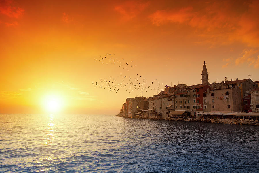 Rovinj By Sunset Photograph by Focusstock
