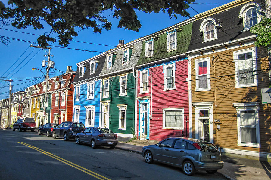 Newfoundland Photograph - Row Houses by Boss Photographic