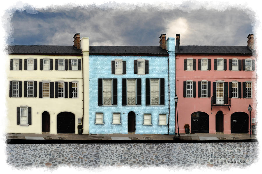 Row houses charleston sc photograph by dan friend for Charleston row house plans