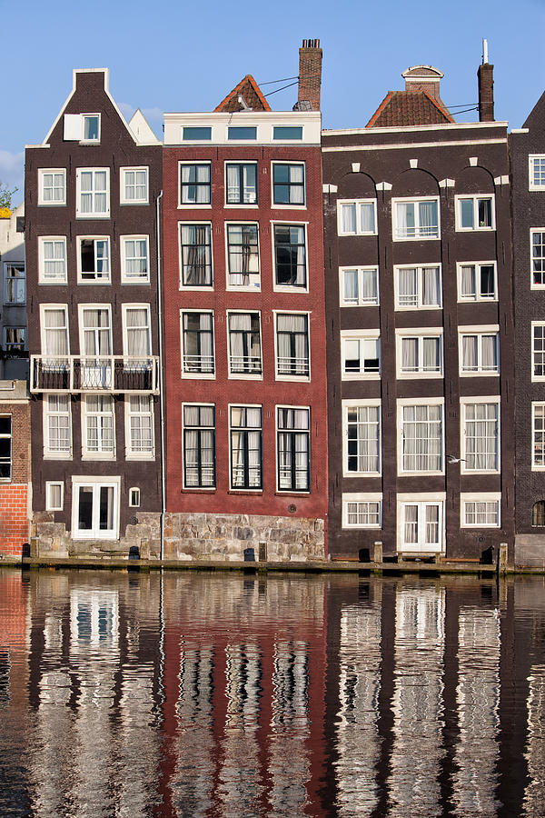 Amsterdam Photograph - Row Houses In Amsterdam by Artur Bogacki
