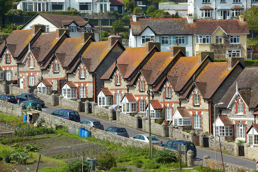 Row Of Houses Photograph by Allan Baxter