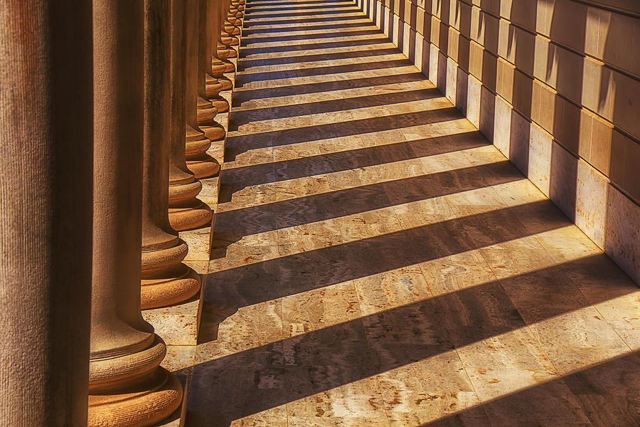 Row Photograph - Row Of Pillars by Garry Gay