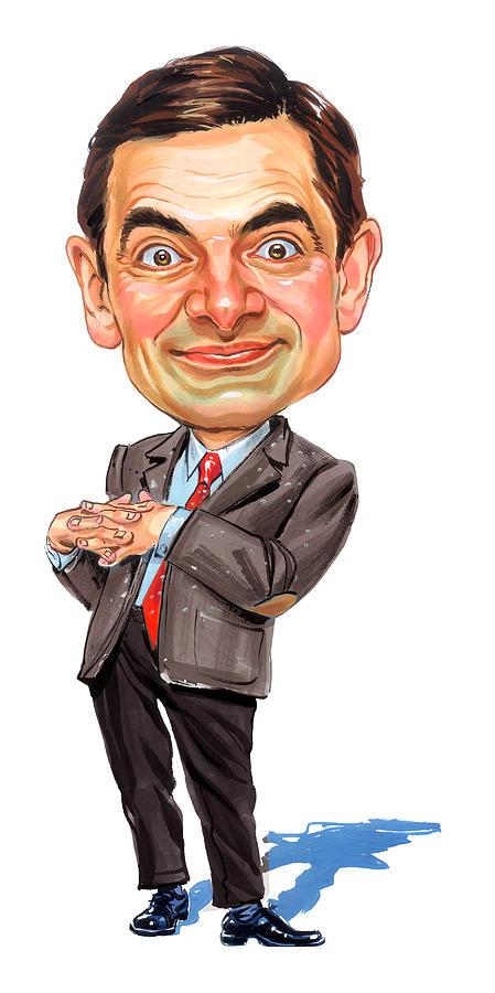 Mr. Bean Painting - Rowan Atkinson as Mr. Bean by Art
