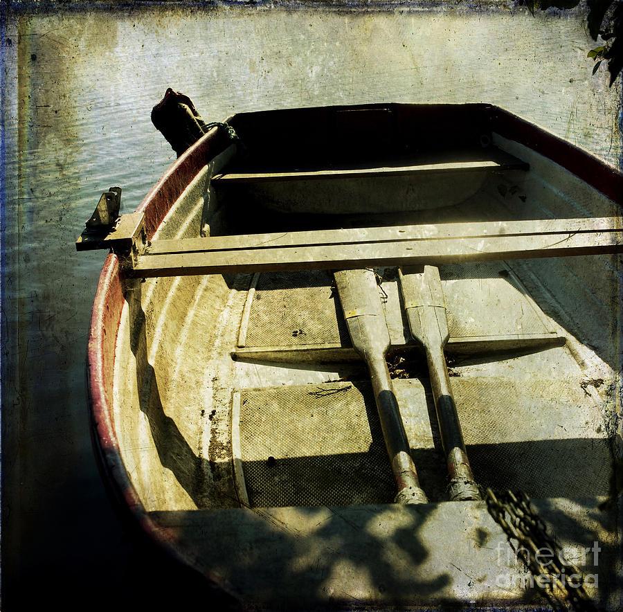Antique Photograph - Rowboat by Bernard Jaubert