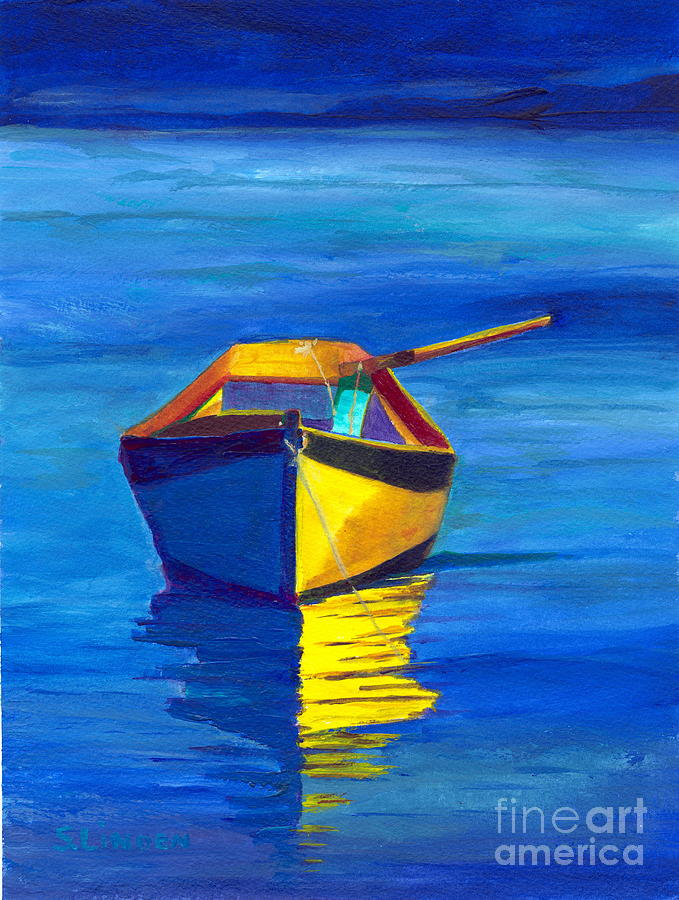 Boats Painting - Rowboat by Sandy Linden