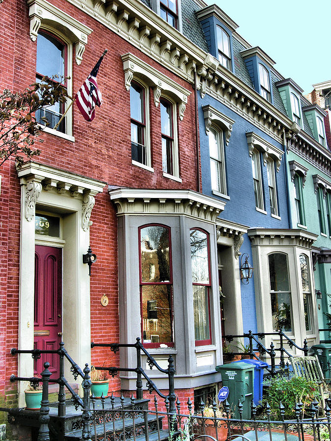 Homes Photograph - Rowhouses Of Eastern Market Xiv by Steven Ainsworth