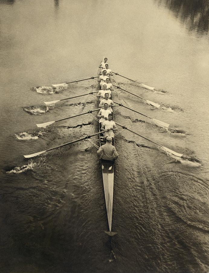 Human Photograph - Rowing Crew, Early 20th Century by Science Photo Library