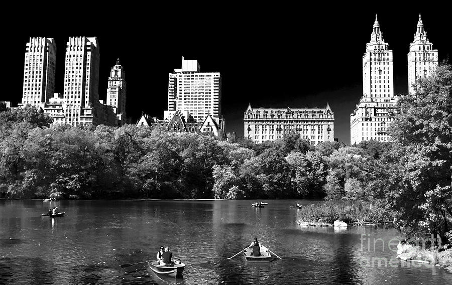 Building Photograph - Rowing In Central Park by John Rizzuto