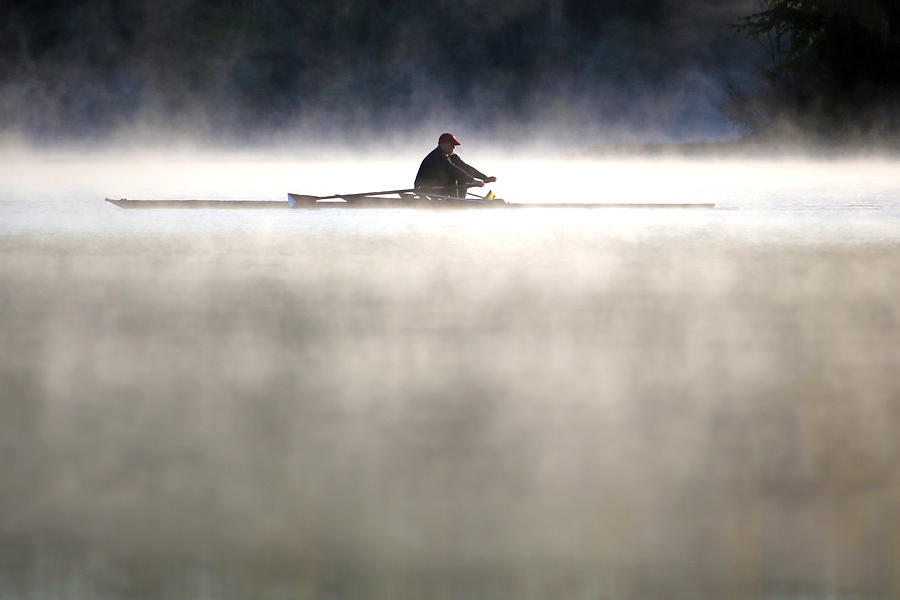 Rowing Photograph - Rowing by Mitch Cat