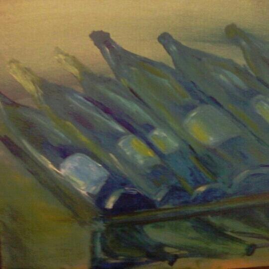 Still-life Painting - Rows Of White by Steve Jorde