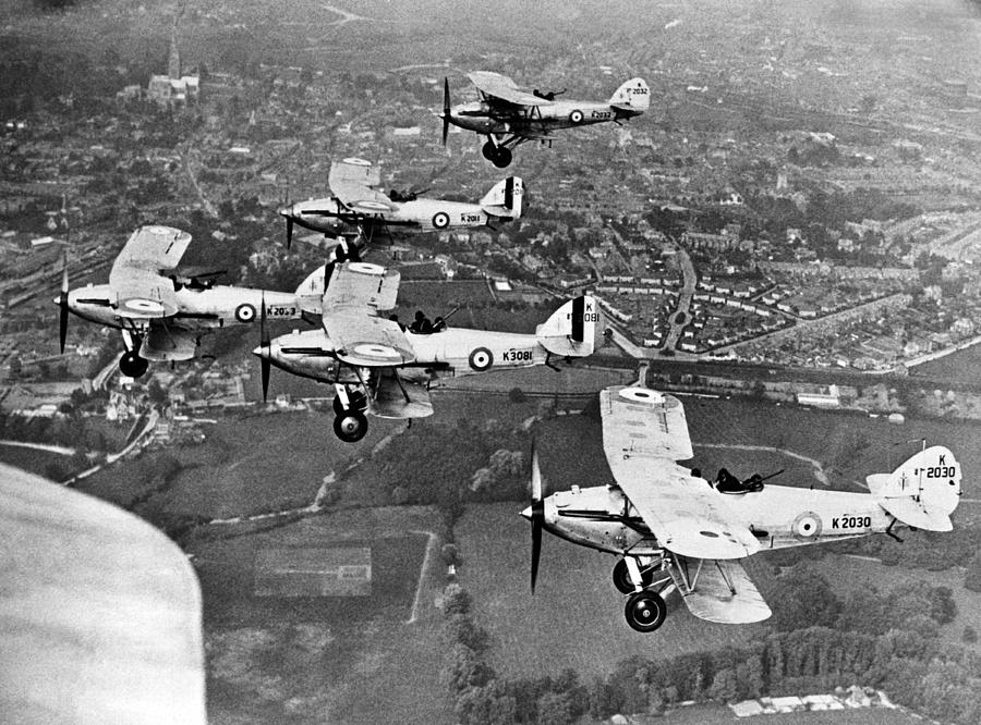 1920 Photograph - Royal Air Force Formation by Underwood Archives
