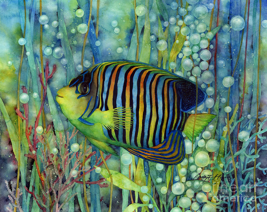 Royal Angelfish Painting