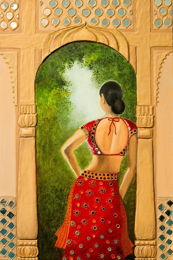Indian Painting - Royal Bride by Archana Doddi