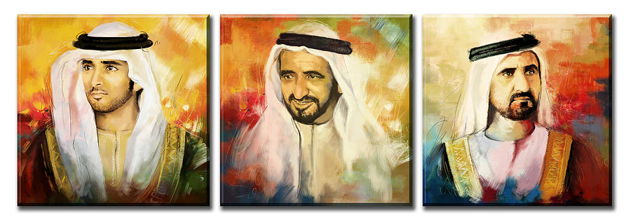 Sheikh Painting - Royal Collage by Corporate Art Task Force