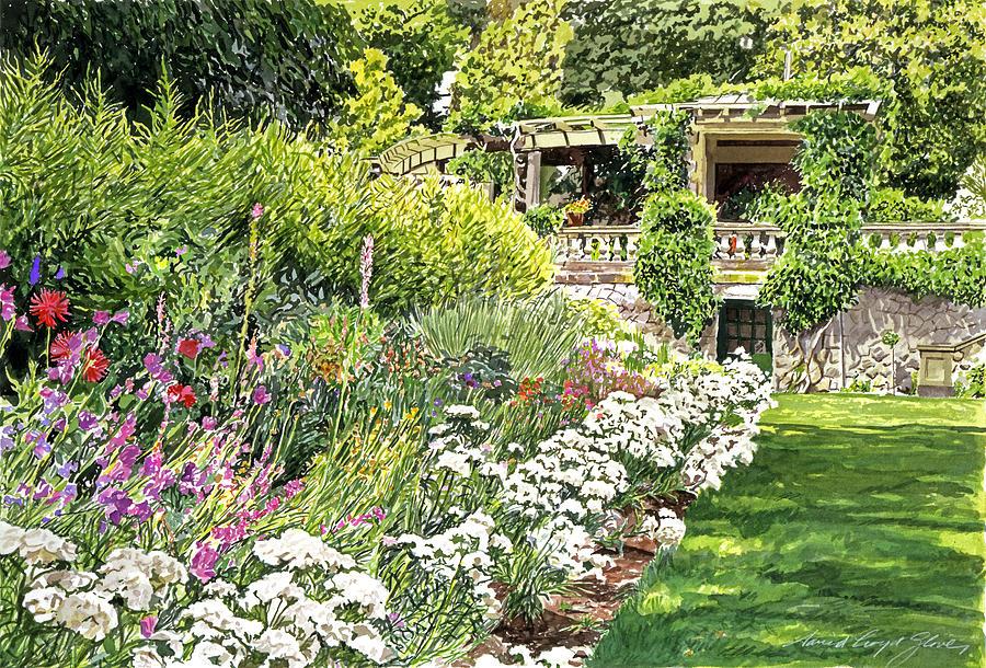Gardens Painting - Royal Garden by David Lloyd Glover