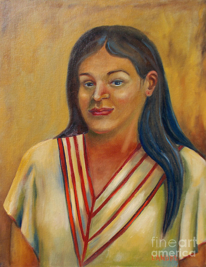 Aztec Painting - Royal Maiden Xochitl by Lilibeth Andre