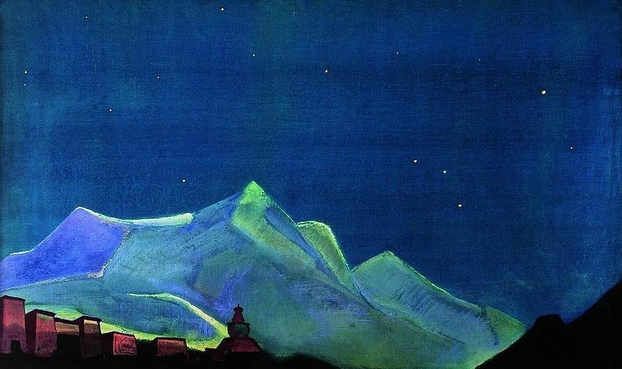Royal Monastery Painting By Nicholas Roerich