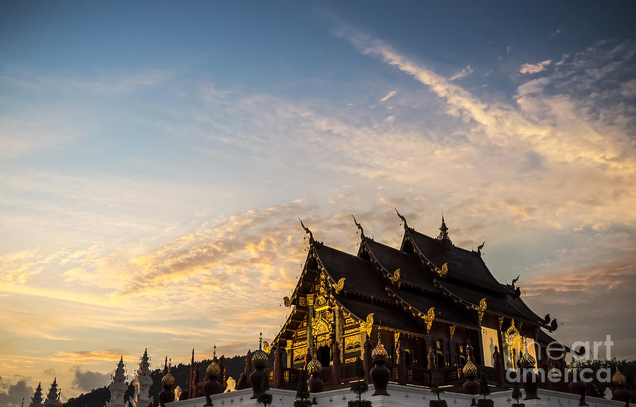 Chiang Mai Photograph - Royal Park Rajapruek On Sunset by Setsiri Silapasuwanchai