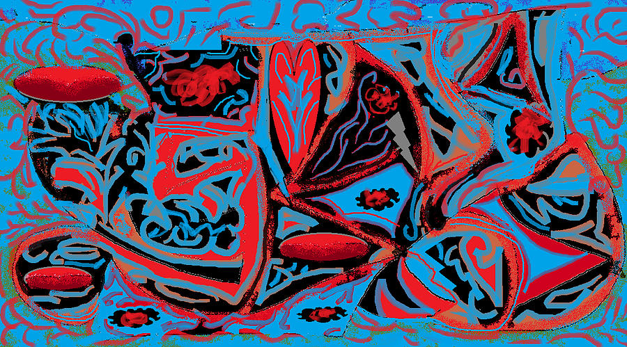 Red Digital Art - Royalty by Beebe  Barksdale-Bruner