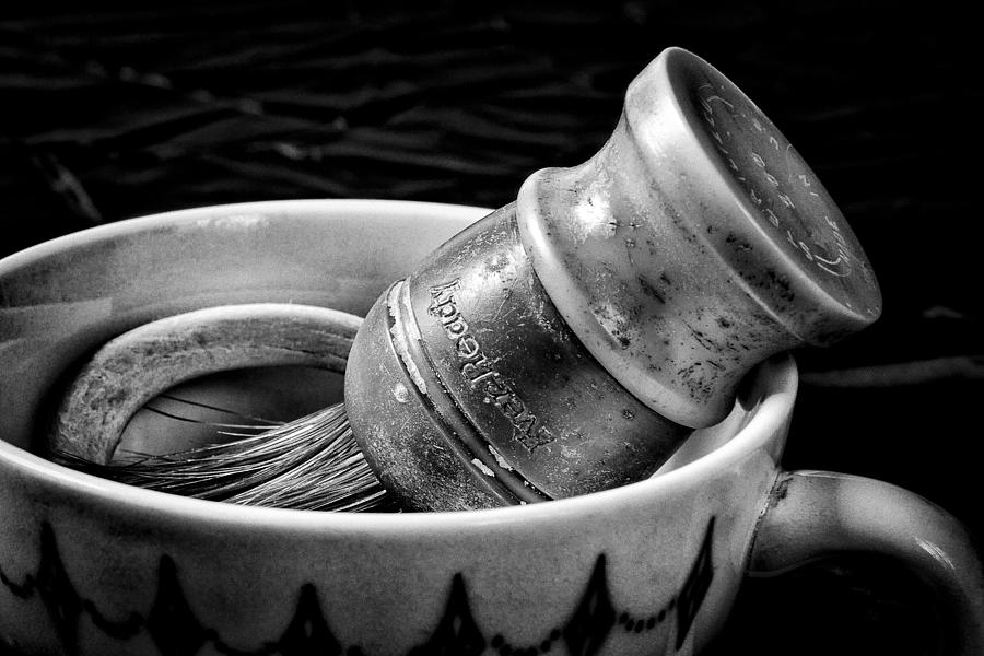 Fineart Photograph - Roys Shaving Mug I by Jeff Burton