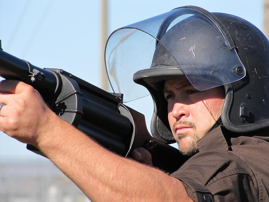 Gun Photograph - Rrt Training by Laura Lindley