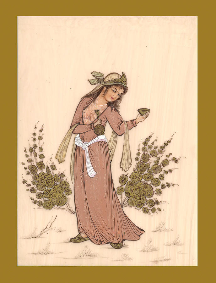Persian Miniature Art Prints Drawing - Rubaiyat by Herbert French