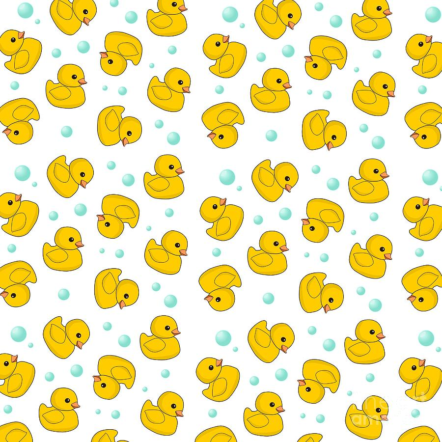 Rubber Duck Pattern Digital Art by Li Or