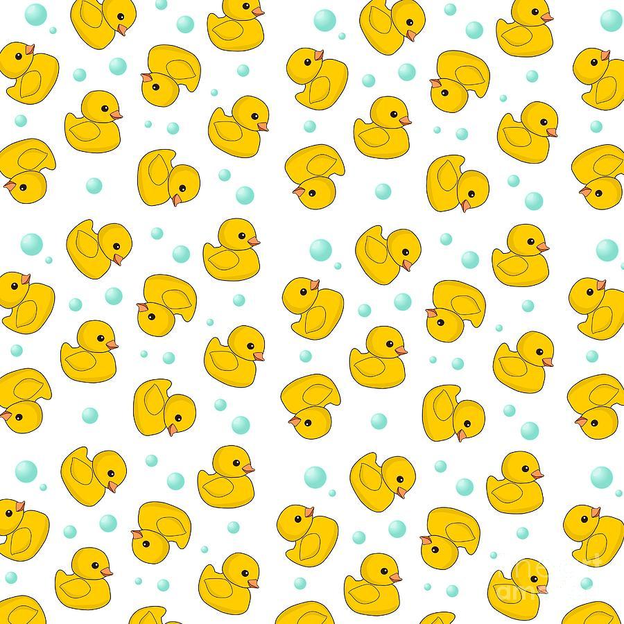 Rubber Duck Pattern Digital Art By Li Or